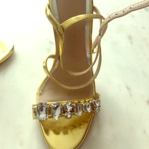 Asos Gold Sandals with Crystals
